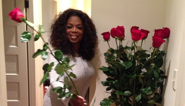 Oprah's Uber Low Key Birthday Included Pajamas, Roses on Steroids & Maria Shriver