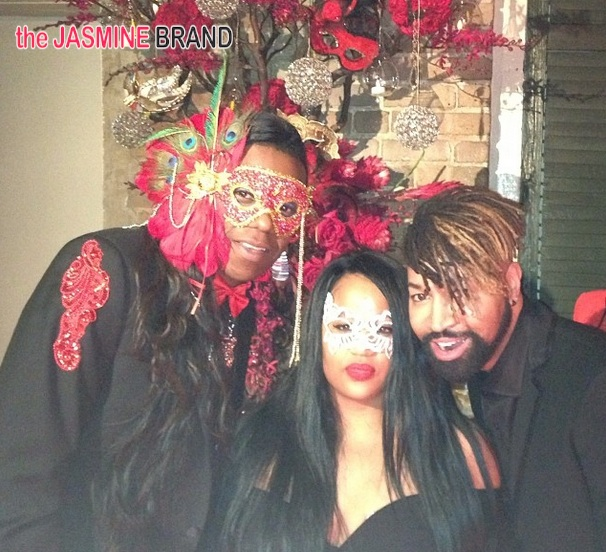 angie beyince-ty hunter-tina knowles-60th birthday party-masquerade ball-the jasmine brand