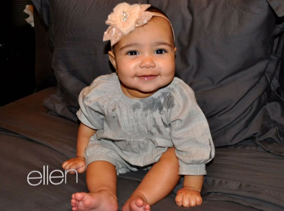 baby north west-kim kardashian-ellen-the jasmine brand