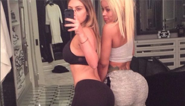 My Bootie Is Bigger Than Yours! BFFs Kim Kardashian & Blac Chyna Pair Up For Seductive Selfie