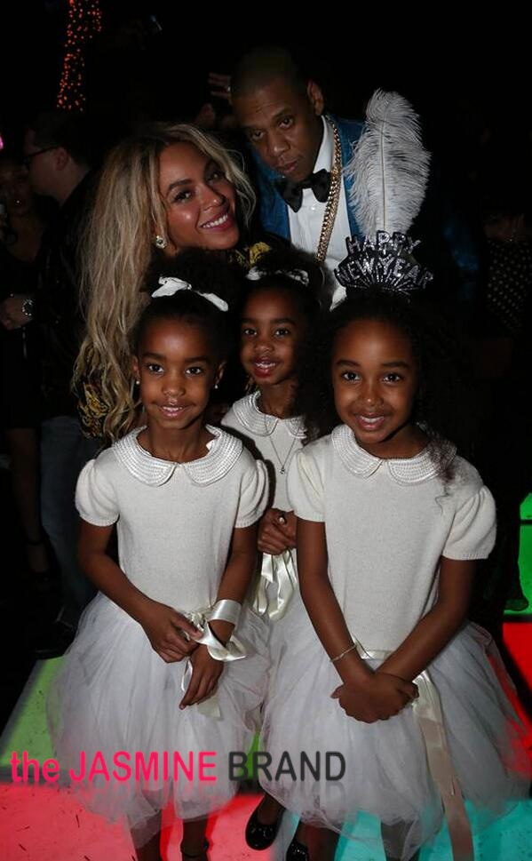 beyonce-jay z-diddy party-twin girls and daughter new years eve 2014-the jasmine brand