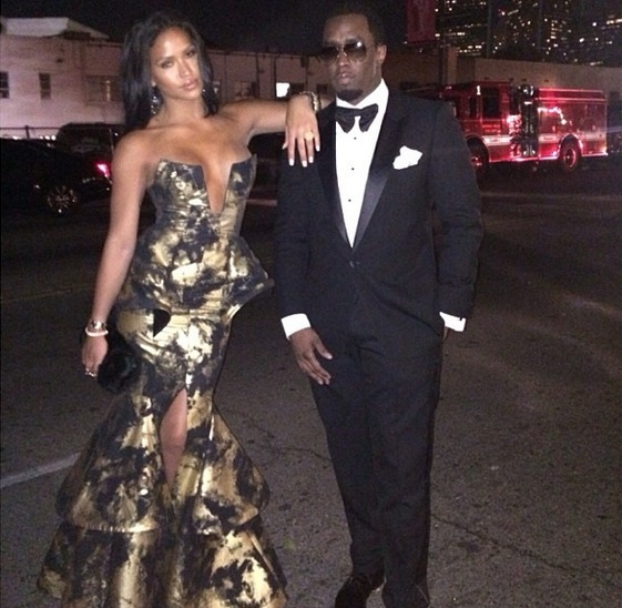 cassie-diddy-golen globes after party 2014-the jasmine brand