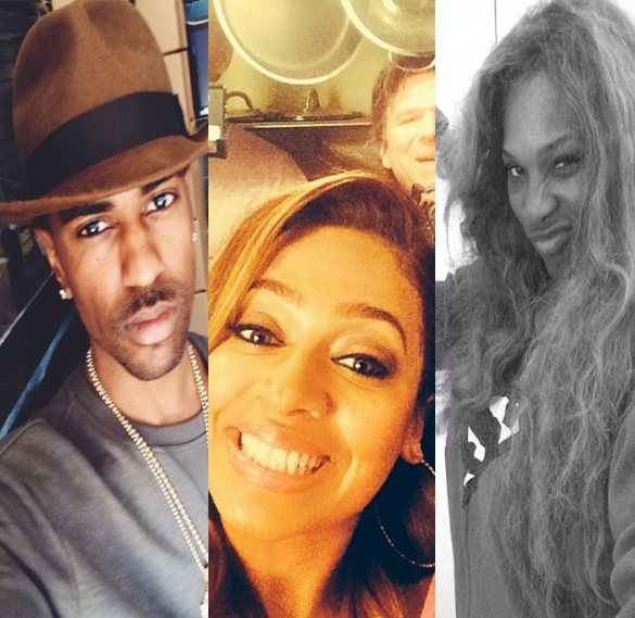 celebrity selfie-serena williams-big sean-lala anthony-the jasmine brand
