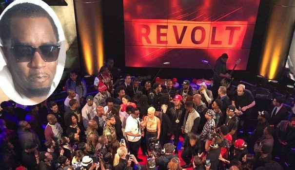 [Photos] Diddy Reveals REVOLT Live Studio A in Hollywood: Tyrese, Wale, Ma$e & More Attend