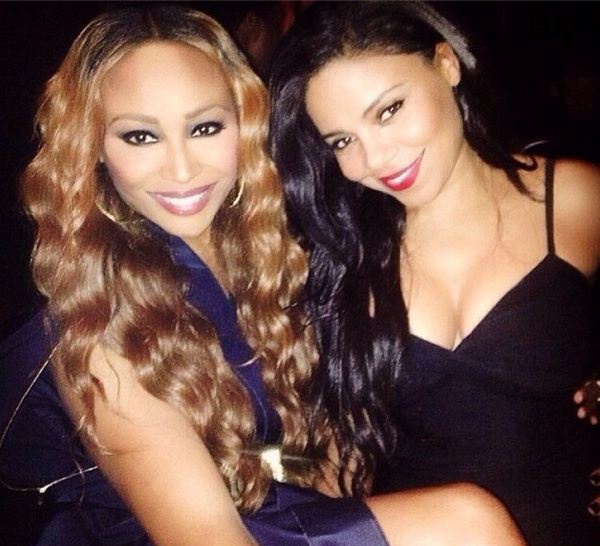 cynthia bailey-sanaa lathan-golden globes after party 2014-the jasmine brand