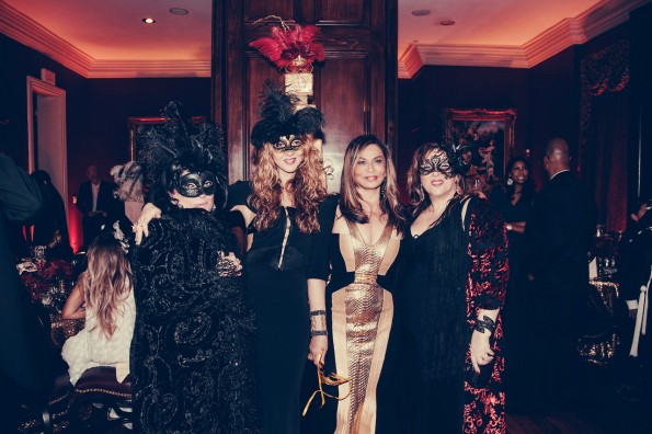 friends group shot-tina knowles-60th birthday party new orleans-the jasmine brand
