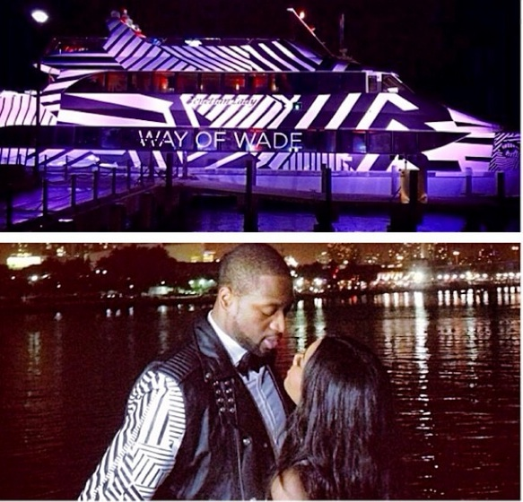gabrielle union-dwayne wade-yacht birthday party 2014-the jasmine brand