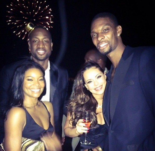 gabrielle union-dwyane wade-make appearance after new baby 2013-the jasmine brand