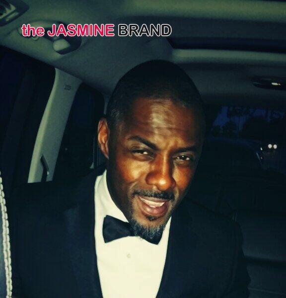 Idris Elba's Boner Bow Tie Tweet Breaks Twitter + Attends Red Carpet Event With Baby Mama
