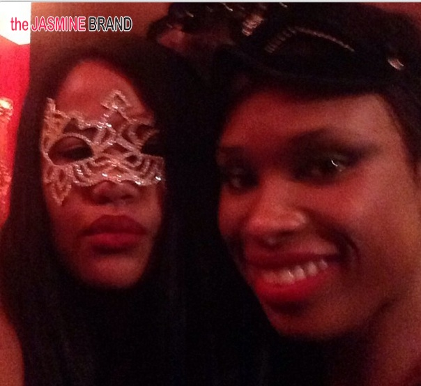 jennifer hudson-angie beyince-tina knowles-60th birthday party-masquerade ball-the jasmine brand
