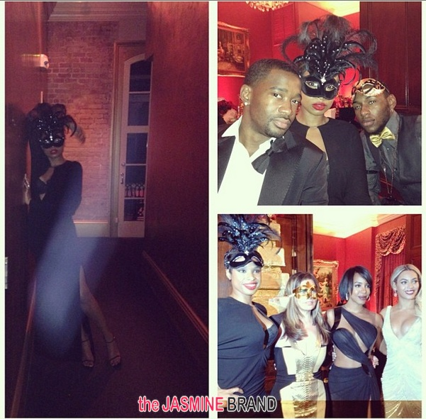 jhud-group shot-tina knowles-60th birthday party-masquerade ball-the jasmine brand