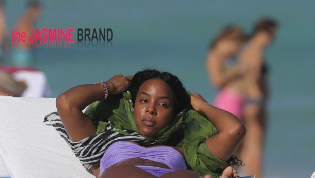 [Photos] Beach Life! Kelly Rowland Soaks Up Miami Sun