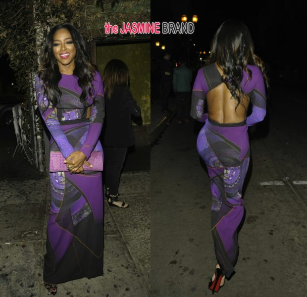 [Photos] Atlanta Housewives Kenya Moore Celebrates Hollywood Birthday In Skin Tight Dress