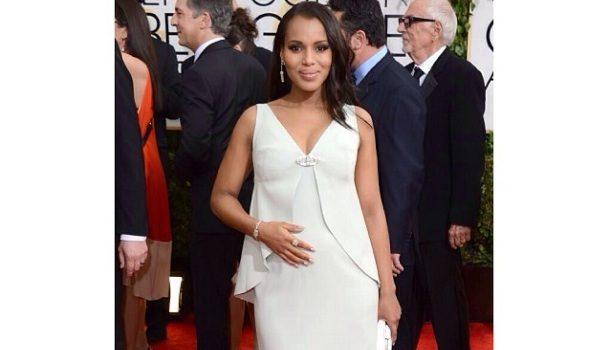 Kerry Washington FINALLY Announces Pregnancy At 'Golden Globes', Fans React