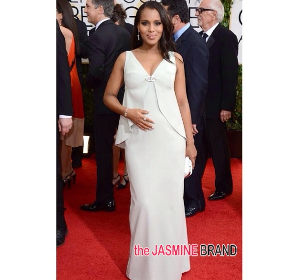 Kerry Washington FINALLY Announces Pregnancy At 'Golden Globes', Fans React