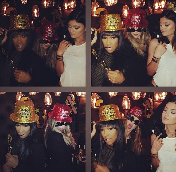 khloe kardashian-kylie jenner-new years eve 2014-the jasmine brand