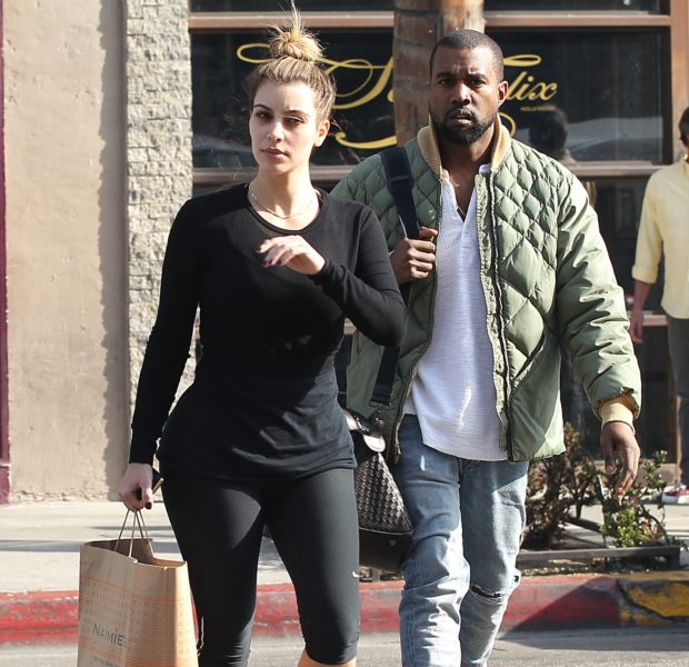 No Beat Face Needed: Kim Kardashian Makes Shopping Run With A Scruffy Kanye West