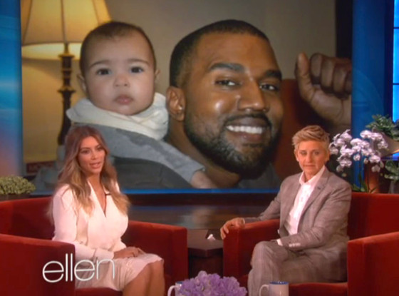 kim kardashian-north west-ellen show-the jasmine brand