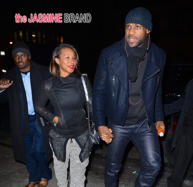 LeBron James & Wife Savannah Brave NYC Cold to Hit the Club With The Bosh's