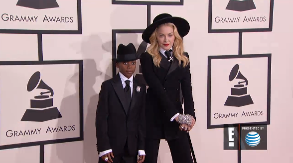 madonna and son ralph lauren-grammys 2014-the jasmine brand