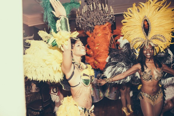 mardi gras dancers-tina knowles-60th birthday party new orleans-the jasmine brand