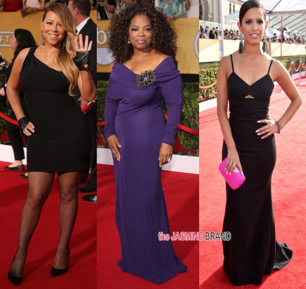 [Photos] 20th Annual Screen Actors Guild Awards: Oprah Winfrey, Mariah Carey, Terrence Howard & More!