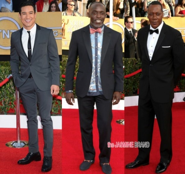 mario lopez-michael k williams-Erik LaRay Harvey-SAG Awards 2014-the jasmine brand