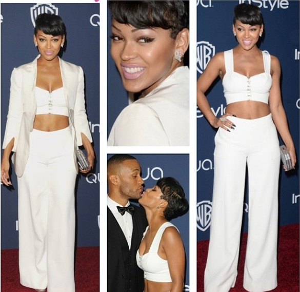 meagan good-golden globes after party 2013-the jasmine brand