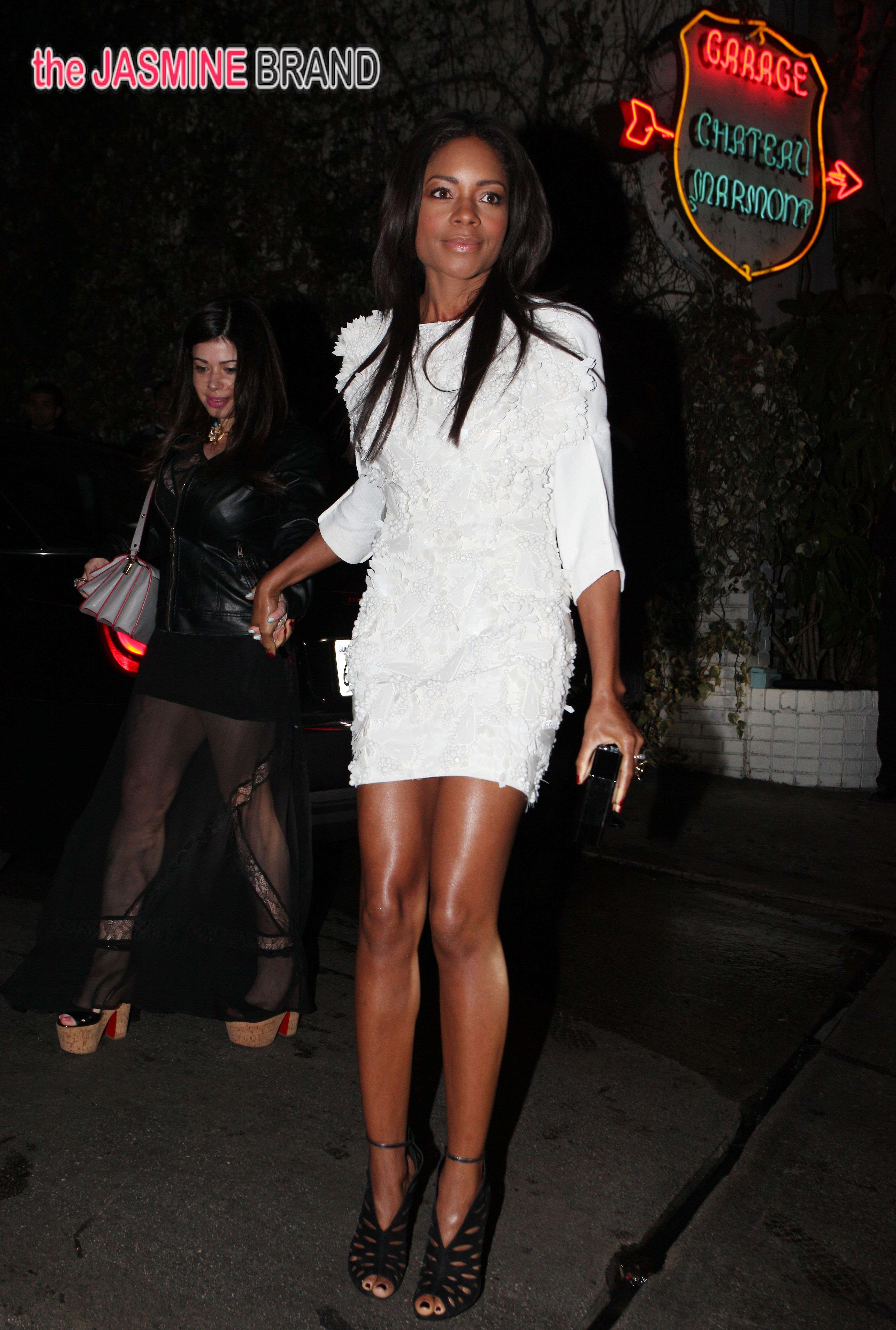 Actress Naomie Harris arrives at the Chateau Marmont in West Hollywood, CA