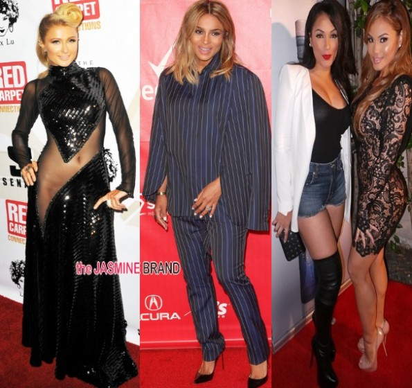 paris hilton-ciara-daphney joy-pre grammys 2014-the jasmine brand