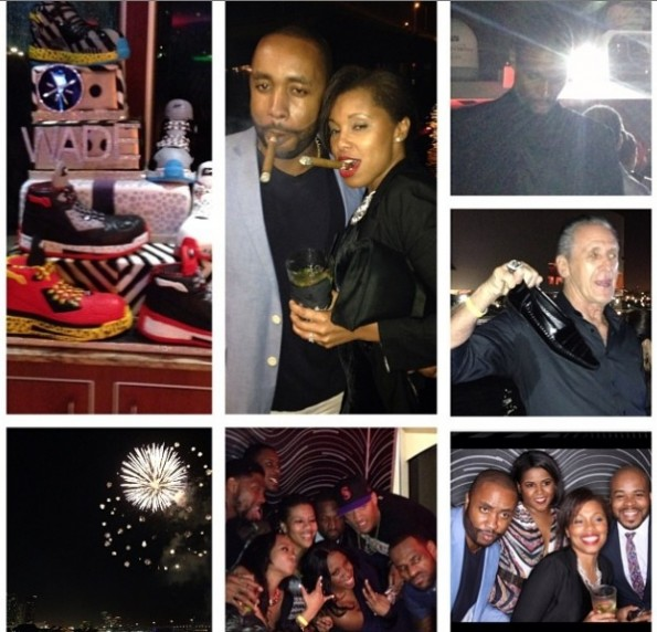 pat riley-christopher bosh-dwayne wade-yacht birthday party 2014-the jasmine brand