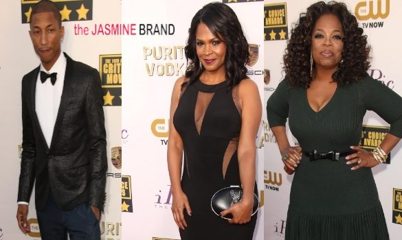 [Photos] Critics' Choice Awards Red Carpet: Oprah, Nia Long, Pharrell & More