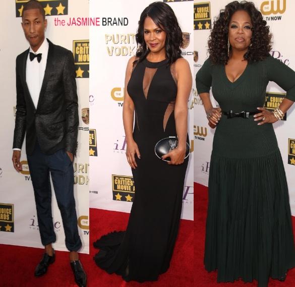 [Photos] Critics' Choice Awards Red Carpet: Oprah, Nia Long, Pharrell & More