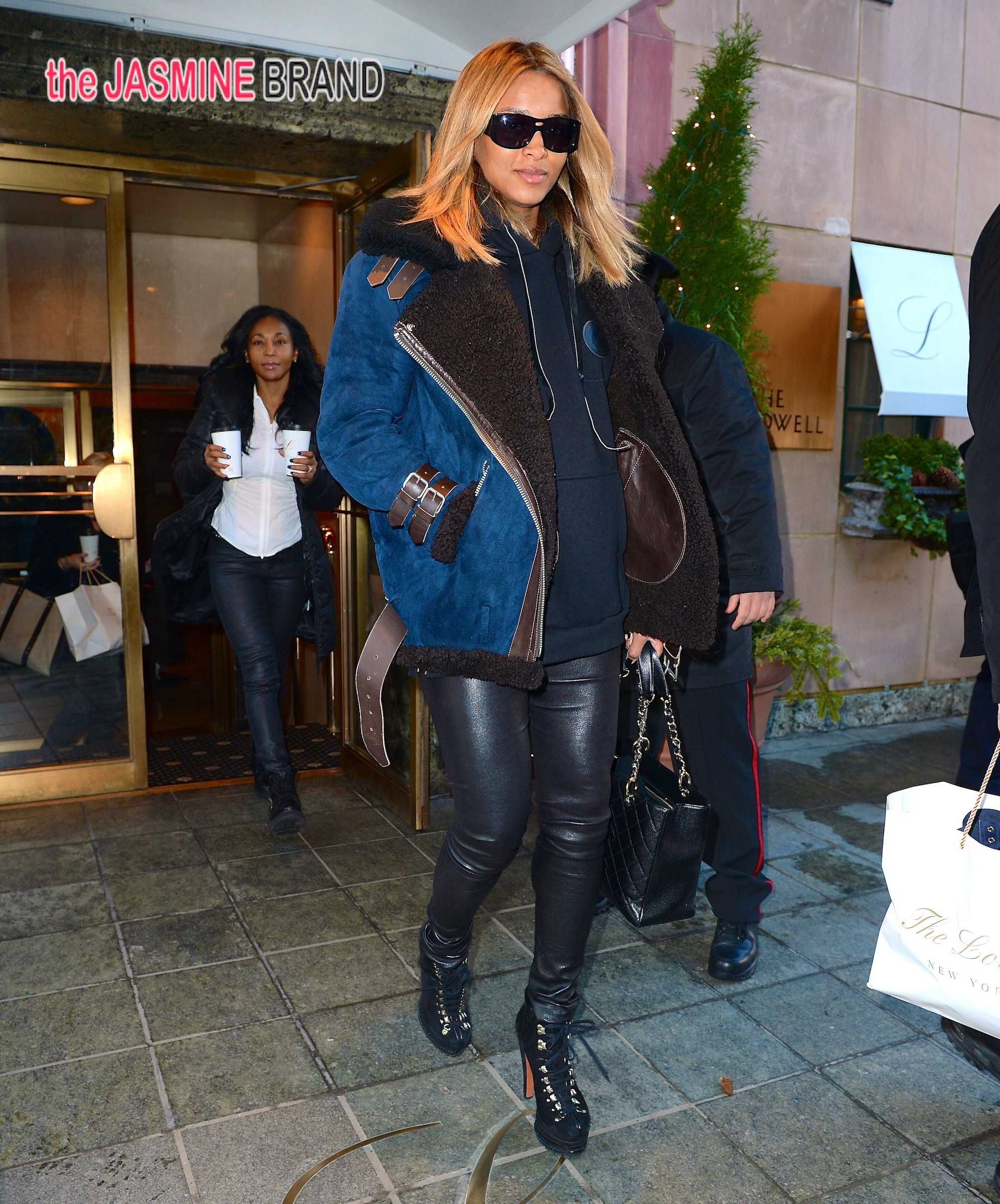 Ciara steps out with a pregnant glow and stiletto boots in NYC