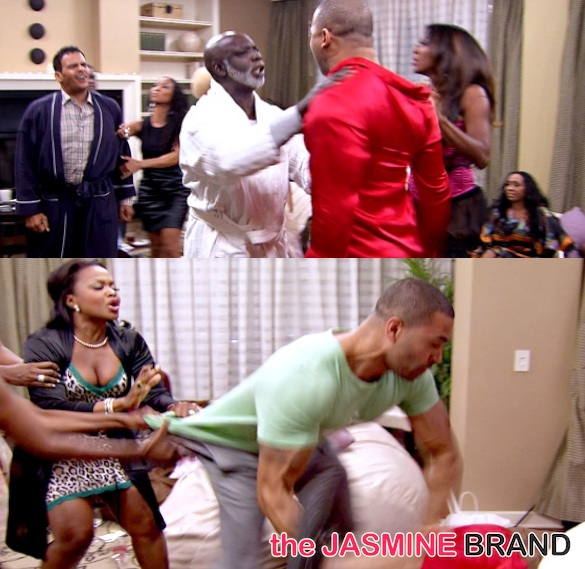 real housewives of atlanta-fight-apollo-kenya moore-peter thomas-christopher williams-the jasmine brand
