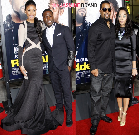 ride along premiere-kevin hart-girlfriend eniko parish-ice cube-wife kimberly woodruff-the jasmine brand