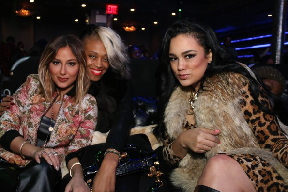 Adrienne Bailon - guest - Emily Bustamante - Myx Super Bowl at Stage 48 NYC 2.2.14