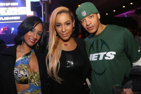 Erica Jean, Amina Buddafly, Peter Gunz - Myx Super Bowl at Stage 48 NYC 2.2.14