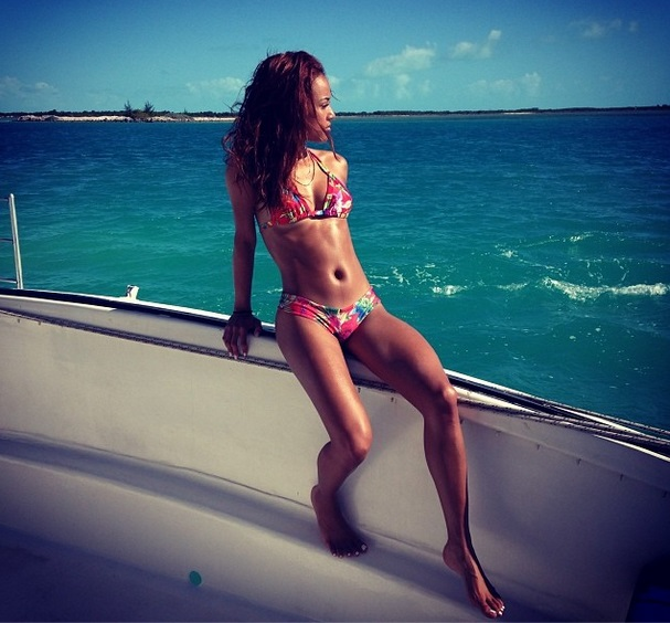 [Photos] Karrueche Tran Takes Tropical Excursion to Turks & Caicos