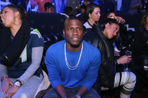 Kevin Hart watches game - Myx Super Bowl at Stage 48 NYC 2.2.14