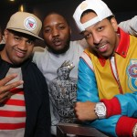 Lenny Santiago, Lil Cease, guest - Myx Super Bowl at Stage 48 NYC 2.2.14