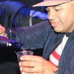 Lenny Santiago pours Myx - Myx Super Bowl at Stage 48 NYC 2.2.14