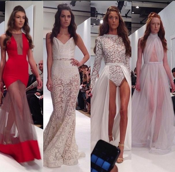 Michael costello white long dress