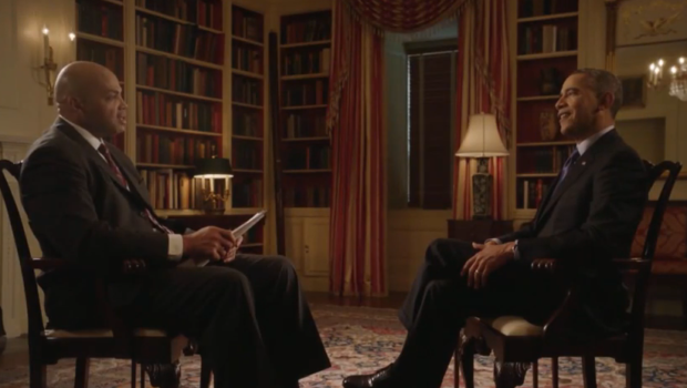 [VIDEO] Charles Barkley Interviews President Obama About LeBron James vs. Michael Jordan Debate
