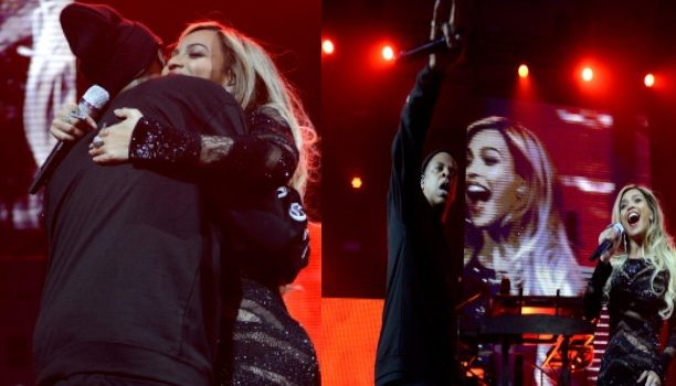 [VIDEO] Jay Z & Beyoncé Kiss & Get 'Drunk In Love' For DirecTV Super Bowl Performance