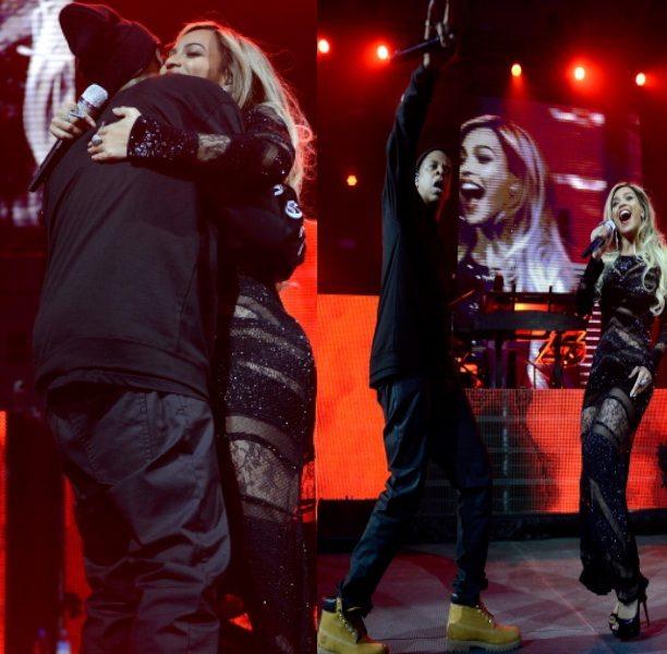 [VIDEO] Jay Z & Beyoncé Kiss & Get 'Drunk In Love' For DirecTV Super Bowl Performance