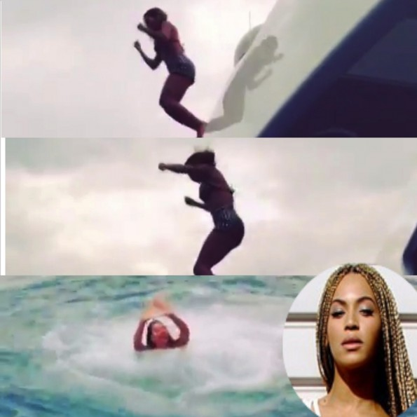 beyonce-jumps from yacht 2014-the jasmine brand