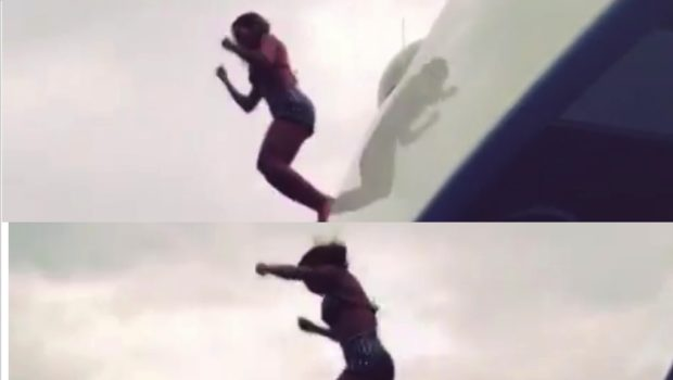 [VIDEO] Team Turn-Up! Beyoncé's Vacay Fun Includes A Yacht Jump