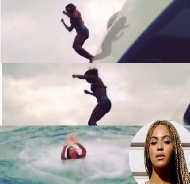 [VIDEO] Team Turn-Up! Beyoncé's Vacay Fun Includes A Yacht Jump