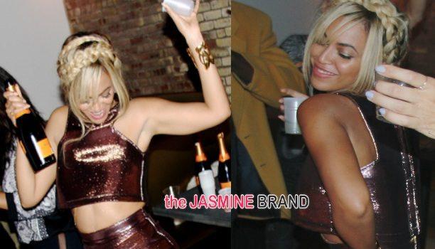 Celebration Time! Beyoncé Sips & Parties At Solange Knowles' Saint Heron Party